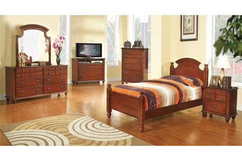 bedroom sets freemont cherry twin size bedroom set