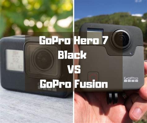 gopro hero black gopro fusion