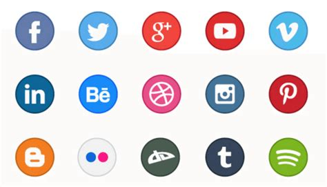 beautiful  social media icon sets   website