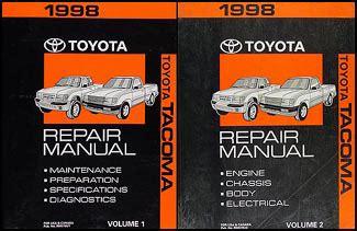 motor repair manual 1998 toyota tacoma auto manual 1998 toyota tacoma repair shop manual original set