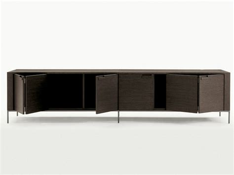 antonio citterio sideboard wooden sideboard with doors titanes collection by maxalto