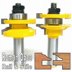 "2pc 1/2"" Shank Roman Ogee Rail and Stile Router Bit Set ..."