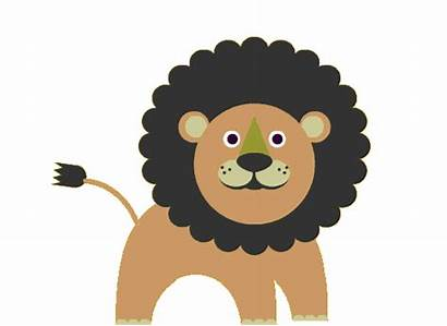 Clipart Animals Zoo Lion Sticker Giphy Monkey
