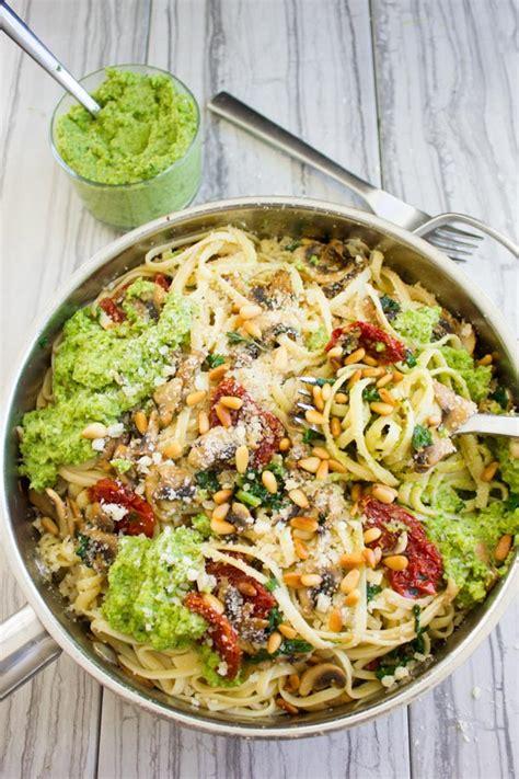 how to make healthy pasta broccoli pesto healthy pasta recipe two purple figs