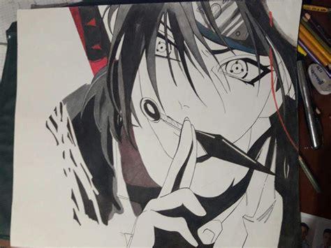 drawing art itachi uchiha naruto series steemit