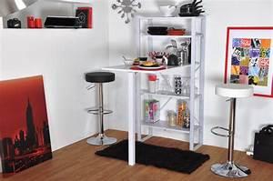 Table Bar Avec Rangement : table de bar rabattable ~ Teatrodelosmanantiales.com Idées de Décoration