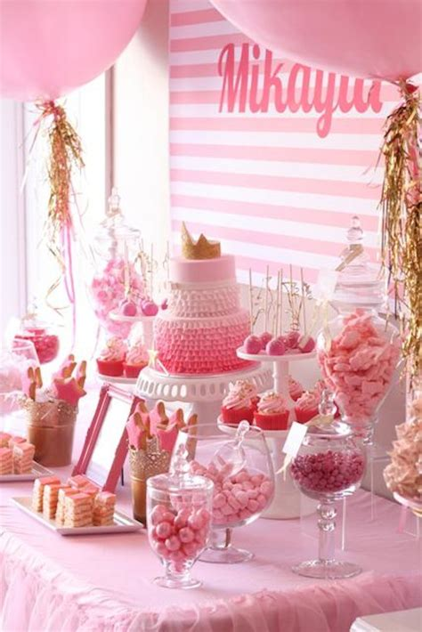 pink and gold birthday themes kara s ideas pinkalicious 6th birthday princess