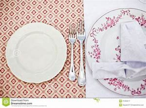 Empty Dinner Plate, Drawing The Fork Set Royalty Free ...