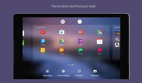tablet launcher for android arrow launcher update adds support for android tablets