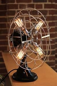 fan lamp large ge model vintage fans edison lamp With edison fan floor lamp