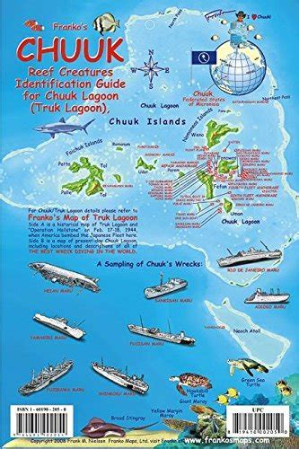 Chuuk (Truk) Lagoon Map & Reef Creatures Guide Franko Maps