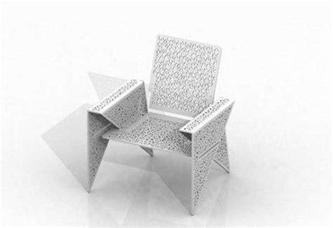 flat pack origami furniture iga chair