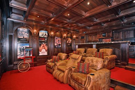 inspired massaging chairin home theater contemporary