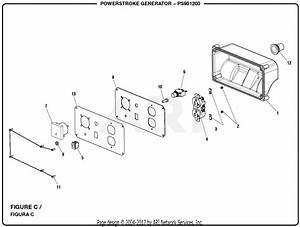 Homelite Ps901200 Powerstroke Generator Parts Diagram For