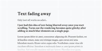 Text Fading Away Scroll Codemyui Fade Website