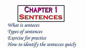 Chapter 1  Sentences  In Hindi Types Of Sentences What Is