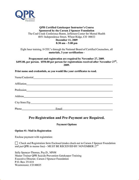 Course Enrolment Form Template by 5 Form Templates Word Teknoswitch