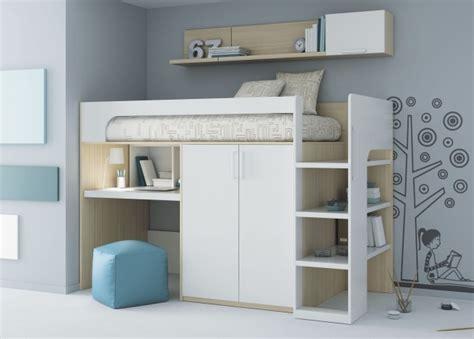 lit mezzanine avec bureau int r lit mezzanine enfant 25 belles idées gain d 39 espace