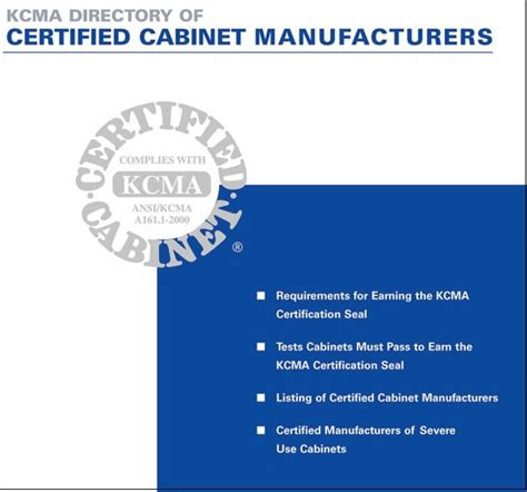 Kcma Cabinets A1611 by Ansi Approves Kitchen Cabinet Manufacturers Association