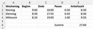 Uhrzeit Berechnen Excel : wie kann man in ms excel arbeitsstunden ber die zeit funktion berechnen ~ Themetempest.com Abrechnung