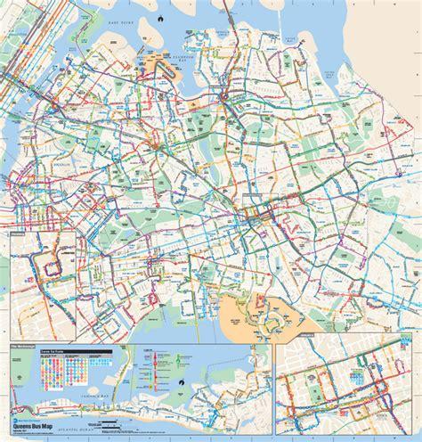 queens  york bus map queens  york mappery