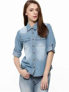 Buy K DENIM Denim Shirt For Women - Womenu0026#39;s Blue Shirts Online in India