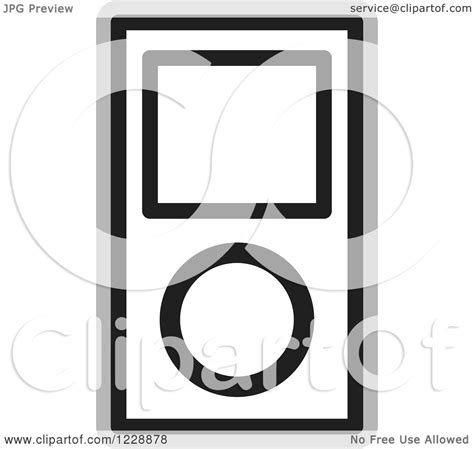 ipod clipart black and white clipart of a black and white ipod mp3 player icon