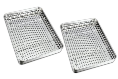 cooling cookie rack sheets stainless steel sheet pan baking pans kitchen
