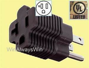 20 Amp To 15amp Power Plug Adapter 20a Straight T
