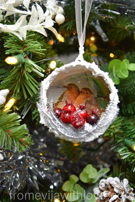 diy blog challenge robin christmas decoration