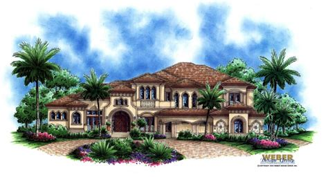 Tuscan Style Mansion Home Floor Plan