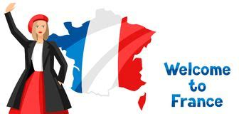 Welcome to France people stock vector. Illustration of ...