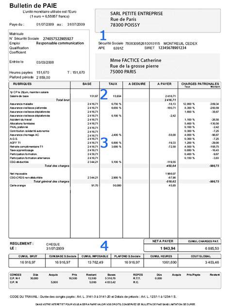 bulletin de salaire cadre modele fiche de paie retraite document