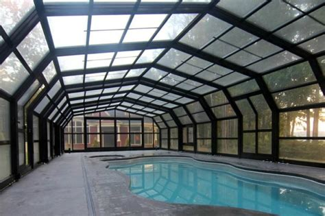 amazing retractable roof shelters  pool  maine