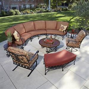 Ow lee san cristobal 9 piece curved sectional set ow for Outdoor furniture covers for curved sofa