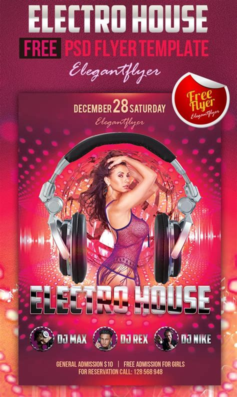 Free Club Flyer Templates by 90 Awesome Free Psd Flyer Templates