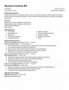 best intensive care nurse resume example livecareer With icu rn resume