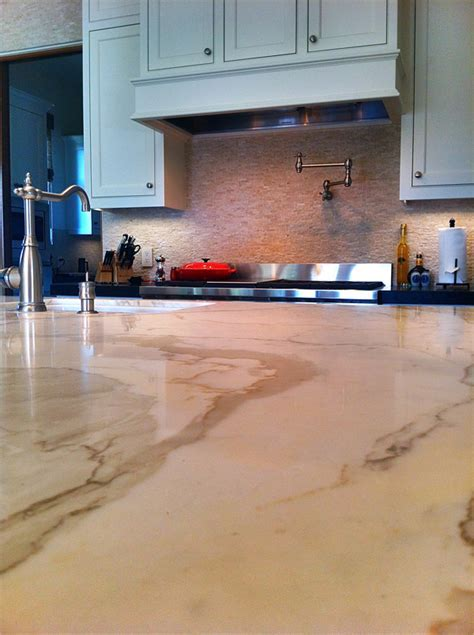 Jackson Kitchen Design Stone Carerra Marble Closeup 600