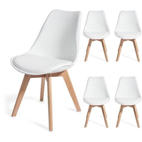 chaise blanche pied en bois chaise design blanche pied bois idées de décoration
