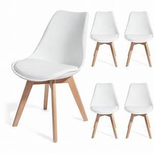 Chaise Bois Design : chaise design blanche pied bois id es de d coration int rieure french decor ~ Teatrodelosmanantiales.com Idées de Décoration