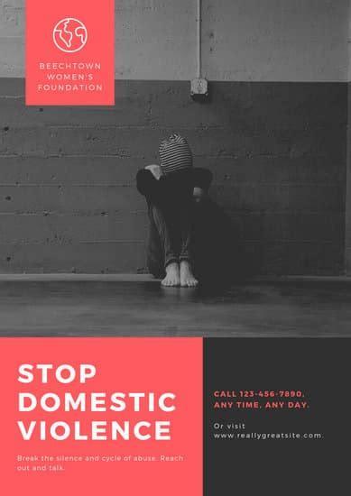 customize  domestic violence poster templates