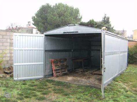 bureau de change argent troc echange garage abri tole galvanisé 2 portes 18m2 sur