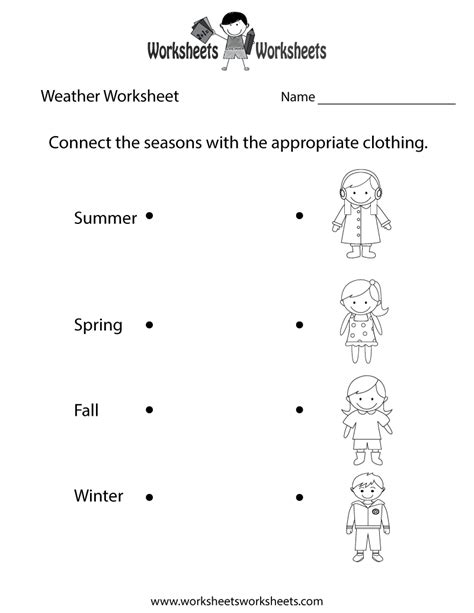 weather worksheet printable study material