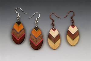 Leaf Earrings by Martha Collins (Wood Earrings) Artful Home