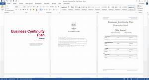 old fashioned continuity plan template ideas resume With business continuity plan template for financial services