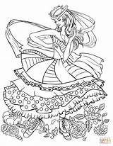 Coloring Pages Dancing Clothing Barbie Clothes Colouring Supercoloring Printable Adult Dance Books Drawing Lady Colorings Getdrawings Elegant Super sketch template