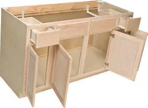 wholesale kitchen cabinets island quality one 60 quot x 34 1 2 quot unfinished oak sink base cabinet with 2 active drawers at menards