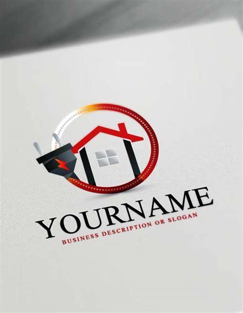 house electrician logo   logo maker
