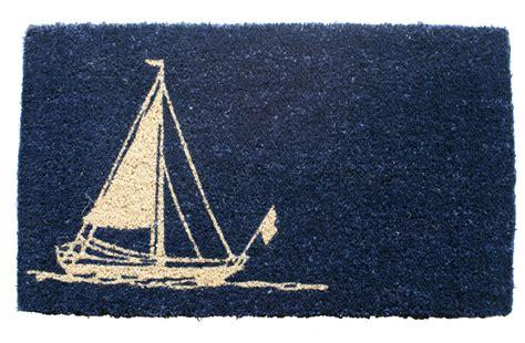 nautical doormats door mats sailboat coir doormat 18 quot x 30 quot welcome