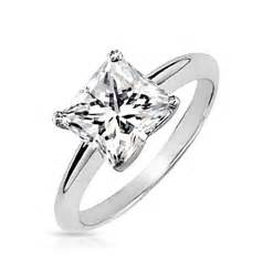 princess wedding rings vintage sterling silver princess cut solitaire engagement ring